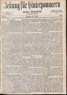 Zeitung für Hinterpommern (Stolper Wochenblatt) Nr. 74/1877