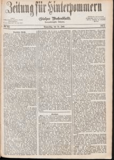 Zeitung für Hinterpommern (Stolper Wochenblatt) Nr. 92/1877