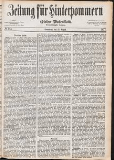 Zeitung für Hinterpommern (Stolper Wochenblatt) Nr. 133/1877