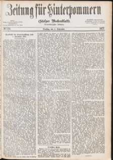 Zeitung für Hinterpommern (Stolper Wochenblatt) Nr. 139/1877