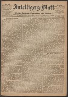 Inteligenz-Blatt für Stolp, Schlawe, Lauenburg und Bütow. Nr 14/1869 r.