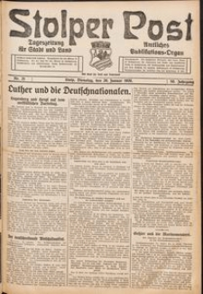 Stolper Post. Tageszeitung für Stadt und Land Nr. 21/1926