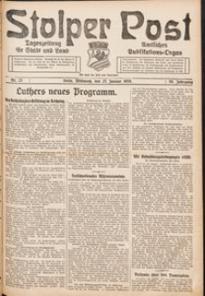 Stolper Post. Tageszeitung für Stadt und Land Nr. 22/1926