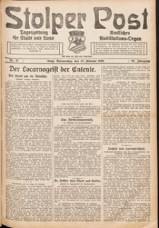 Stolper Post. Tageszeitung für Stadt und Land Nr. 47/1926