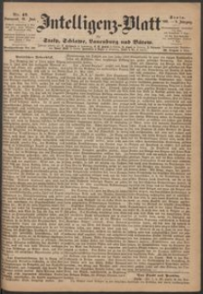 Inteligenz-Blatt für Stolp, Schlawe, Lauenburg und Bütow. Nr 47/1869 r.