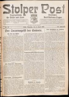 Stolper Post. Tageszeitung für Stadt und Land Nr. 85/1926