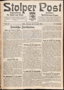 Stolper Post. Tageszeitung für Stadt und Land Nr. 91/1926