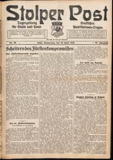 Stolper Post. Tageszeitung für Stadt und Land Nr. 99/1926