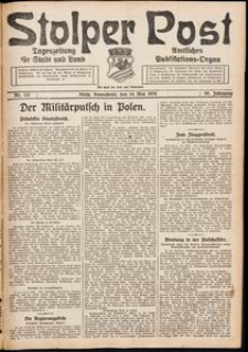 Stolper Post. Tageszeitung für Stadt und Land Nr. 112/1926
