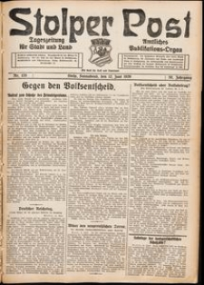 Stolper Post. Tageszeitung für Stadt und Land Nr. 135/1926