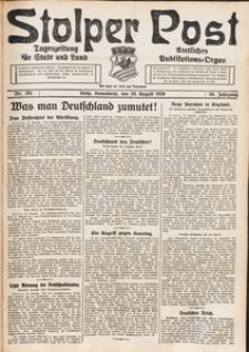 Stolper Post. Tageszeitung für Stadt und Land Nr. 201/1926