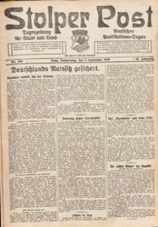 Stolper Post. Tageszeitung für Stadt und Land Nr. 205/1926