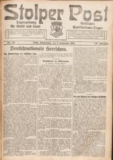 Stolper Post. Tageszeitung für Stadt und Land Nr. 211/1926