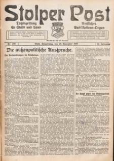 Stolper Post. Tageszeitung für Stadt und Land Nr. 276/1926