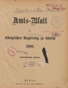 Amts-Blatt der Königlichen Regierung zu Cöslin 1900