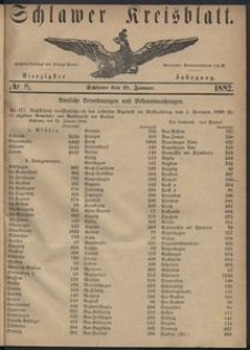 Kreisblatt des Schlawer Kreises 1882, No. 8