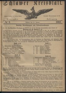 Kreisblatt des Schlawer Kreises 1882, No. 9