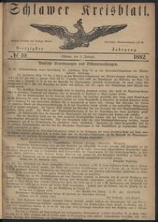 Kreisblatt des Schlawer Kreises 1882, No. 10