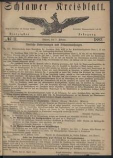 Kreisblatt des Schlawer Kreises 1882, No. 11