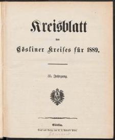 Kreisblatt des Cösliner Kreises 1889