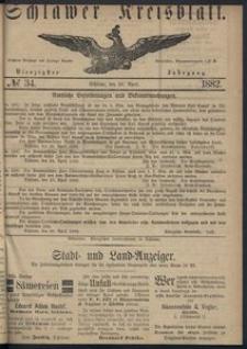 Kreisblatt des Schlawer Kreises 1882 No 34