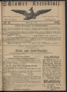 Kreisblatt des Schlawer Kreises 1882 No 36