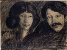Portrait Irena Solska, man
