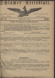 Kreisblatt des Schlawer Kreises 1882 No 44