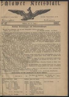 Kreisblatt des Schlawer Kreises 1882 No 47