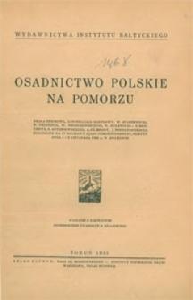 Osadnictwo polskie na Pomorzu : praca zbiorowa