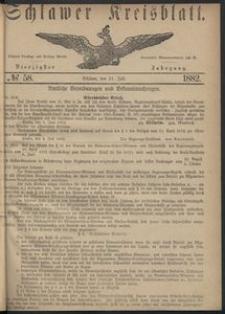 Kreisblatt des Schlawer Kreises 1882 No 58