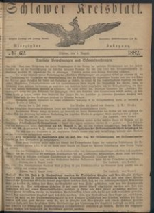 Kreisblatt des Schlawer Kreises 1882 No 62
