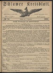 Kreisblatt des Schlawer Kreises 1882 No 70