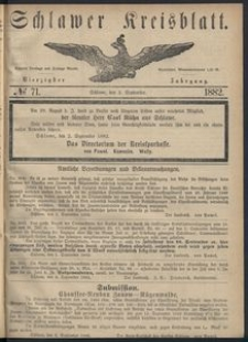 Kreisblatt des Schlawer Kreises 1882 No 71