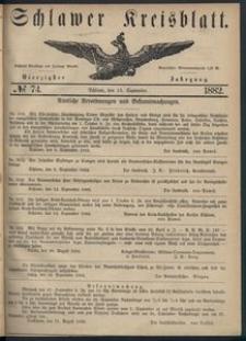 Kreisblatt des Schlawer Kreises 1882 No 74