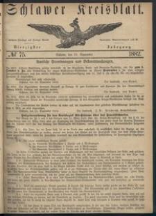Kreisblatt des Schlawer Kreises 1882 No 75