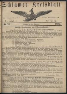Kreisblatt des Schlawer Kreises 1882 No 76