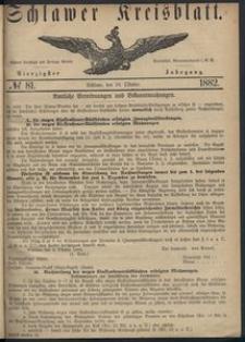 Kreisblatt des Schlawer Kreises 1882 No 81