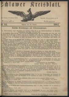 Kreisblatt des Schlawer Kreises 1882 No 84