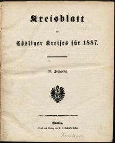 Kreisblatt des Cösliner Kreises 1887