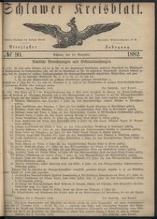 Kreisblatt des Schlawer Kreises 1882 No 90
