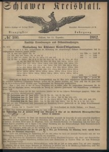 Kreisblatt des Schlawer Kreises 1882 No 100