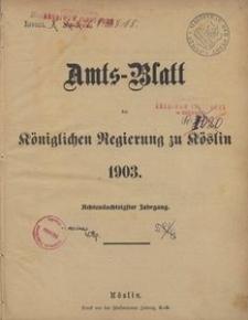 Amts-Blatt der Königlichen Regierung zu Köslin 1903