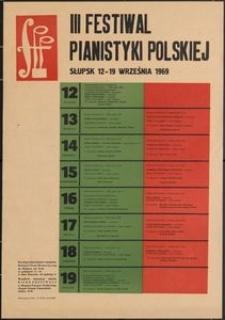 [Afisz] : III Festiwal Pianistyki Polskiej w Słupsku
