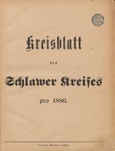 Kreisblatt des Schlawer Kreises 1886