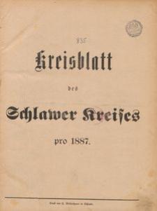 Kreisblatt des Schlawer Kreises 1887