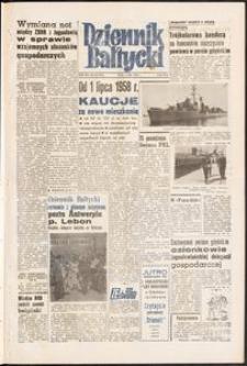 Dziennik Bałtycki, 1958, nr 155
