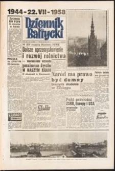 Dziennik Bałtycki, 1958, nr 172