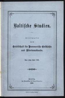 Baltische Studien [T. 13]