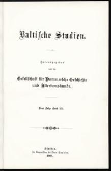 Baltische Studien [T. 12]